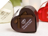 Personalized Chocolate Heart Favour Box - 100pc