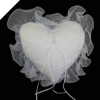 Heart Ring Pillow-White