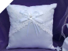 Lace Wedding Ring Pillow-White