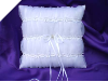 Organza Ring Pillow-White