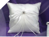 Rhinestone Ring Pillow-Ivory