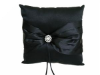 Rhinestone Button Ring Pillow - Black
