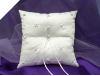 Rhinestone and Pearl Ring Pillow-Ivory