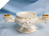 Satin Bow Unity Candle Holder