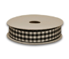 1.58cm Gingham Ribbon - Black