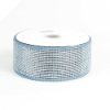 10.16cm Metallic Deco Mesh Ribbon-Silver