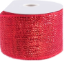 10.16cm Metallic Deco Mesh Ribbon-Red
