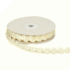 1.27cm Satin Flower Trim - Ivory
