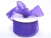 6.35cm x 22.86metres Wired Organza - Purple