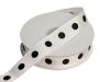 2.22cm Polka Dot Ribbon-White with Single Black