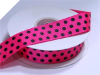 2.22cm Polka Dot Ribbon-Hot Pink