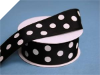 3.81 cm Polka Dot Ribbon-Black