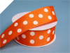 3.81 cm Polka Dot Ribbon-Orange