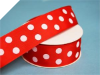 3.81 cm Polka Dot Ribbon-Red