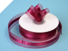 2.22cm Organza Satin Centre-Burgundy
