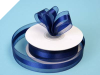 2.22cm Organza Satin Centre-Navy