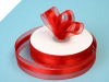2.22cm Organza Satin Centre-Red