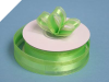 2.22cm Organza Satin Centre-Apple Green