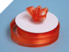 2.22cm Organza Satin Centre-Coral Orange