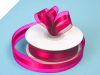 2.22cm Organza Satin Centre-Fuchsia/Hot Pink