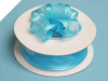 2.22cm Wired Satin Edged Organza-Turquoise
