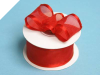 3.81cm Wired Satin Edged Organza - Red