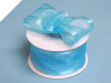 3.81cm Wired Satin Edged Organza - Turquoise