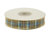 1.58cm Plaid Ribbon - Blue
