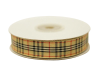 1.58cm Plaid Ribbon - Natural Beige
