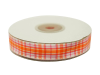 1.58cm Plaid Ribbon - Orange
