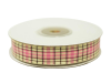 1.58cm Plaid Ribbon - Pink