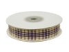 1.58cm Plaid Ribbon - Purple