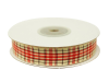 1.58cm Plaid Ribbon - Red