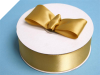 3.81 cm Satin Ribbon-Gold