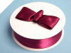 3.81 cm Satin Ribbon-Burgundy