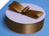 3.81 cm Satin Ribbon-Chocolate