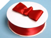3.81 cm Satin Ribbon-Red