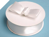 3.81 cm Satin Ribbon-White