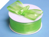 3.81cm Satin Edge Organza-Apple Green