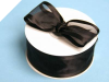 3.81cm Satin Edge Organza-Black