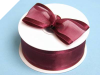 3.81cm Satin Edge Organza-Burgundy