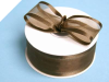 3.81cm Satin Edge Organza-Chocolate