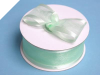3.81cm Satin Edge Organza-Mint