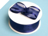 3.81cm Satin Edge Organza-Navy Blue