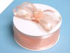 3.81cm Satin Edge Organza-Peach