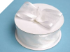 3.81cm Satin Edge Organza-White