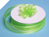 2.22cm Satin Edge Organza-Apple Green