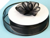 2.22cm Satin Edge Organza-Black