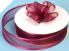 2.22cm Satin Edge Organza-Burgundy