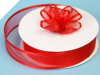 2.22cm Satin Edge Organza-Red